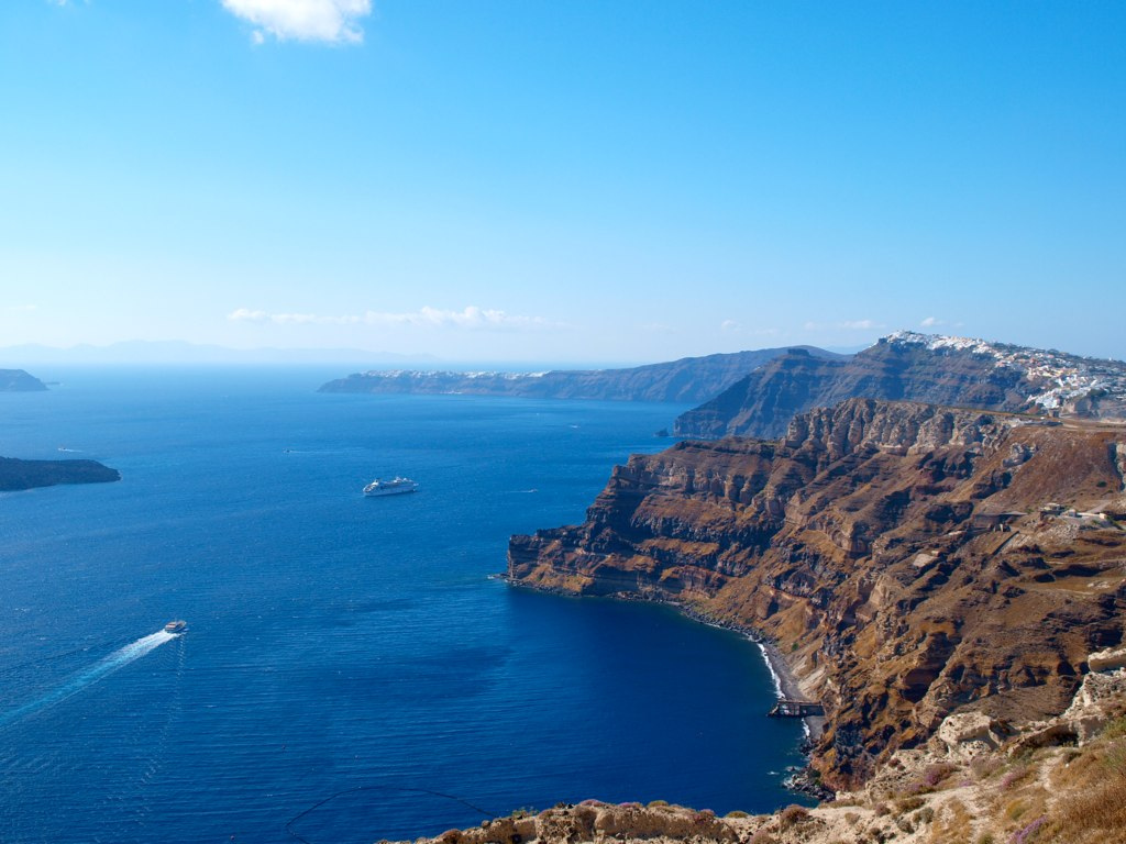 Photo of the caldera - Santorini [View from Santos winery]