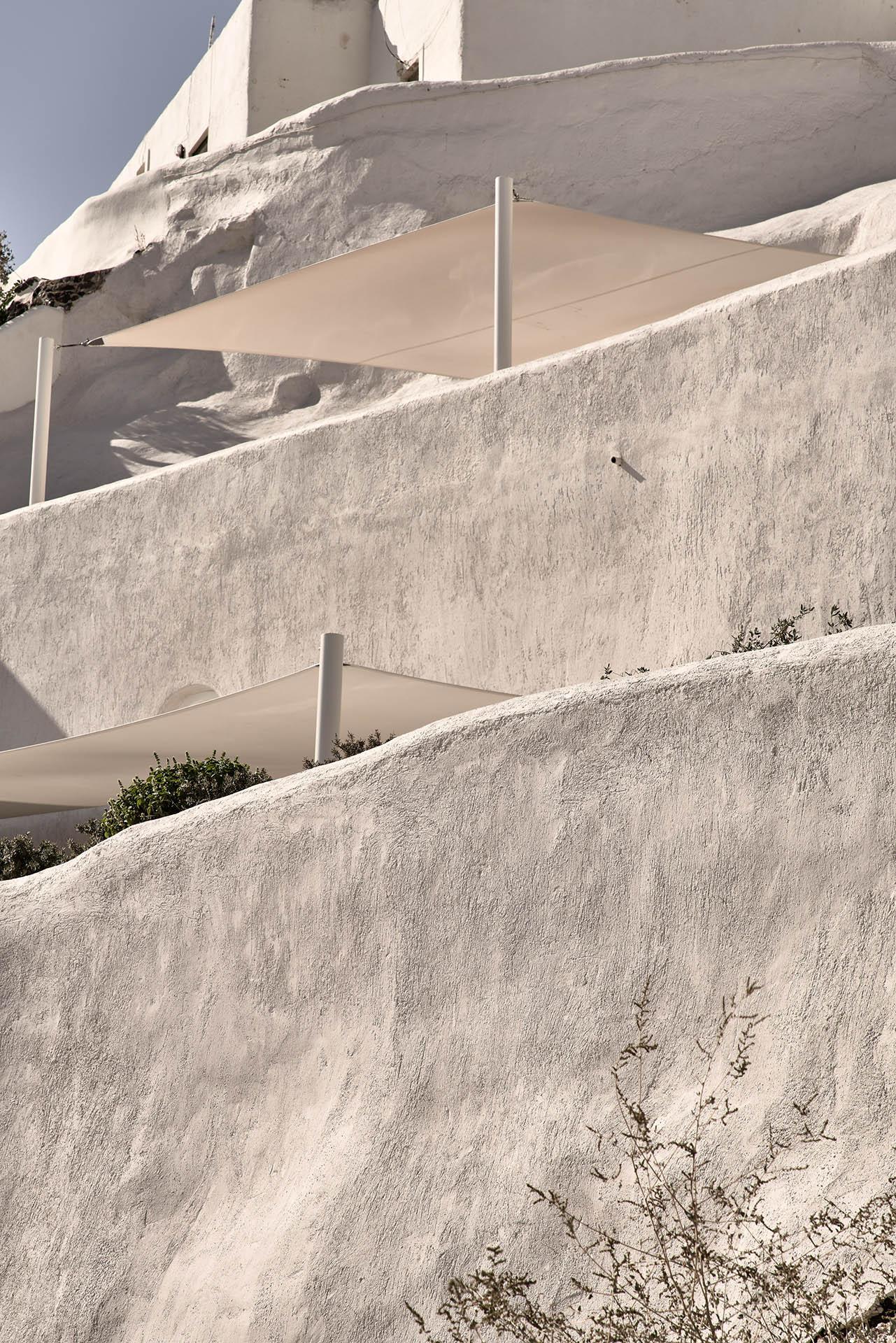 Mystique's villas and suites are built into the rocks