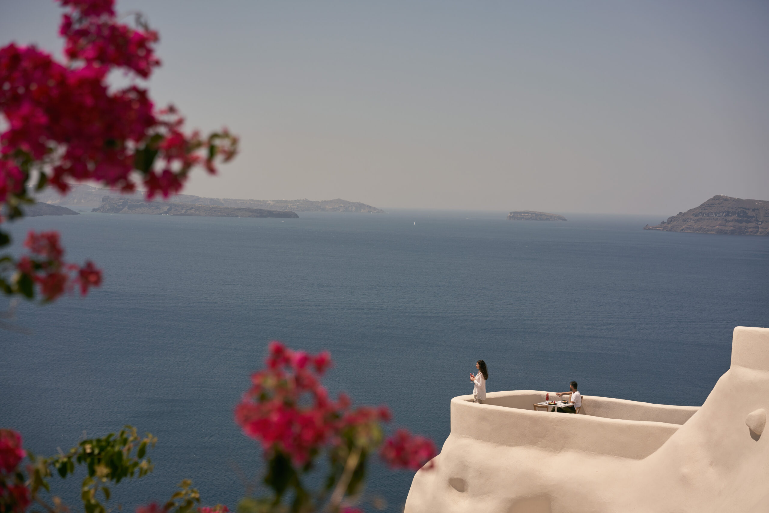 Stunning view from Mystique hotel in Oia