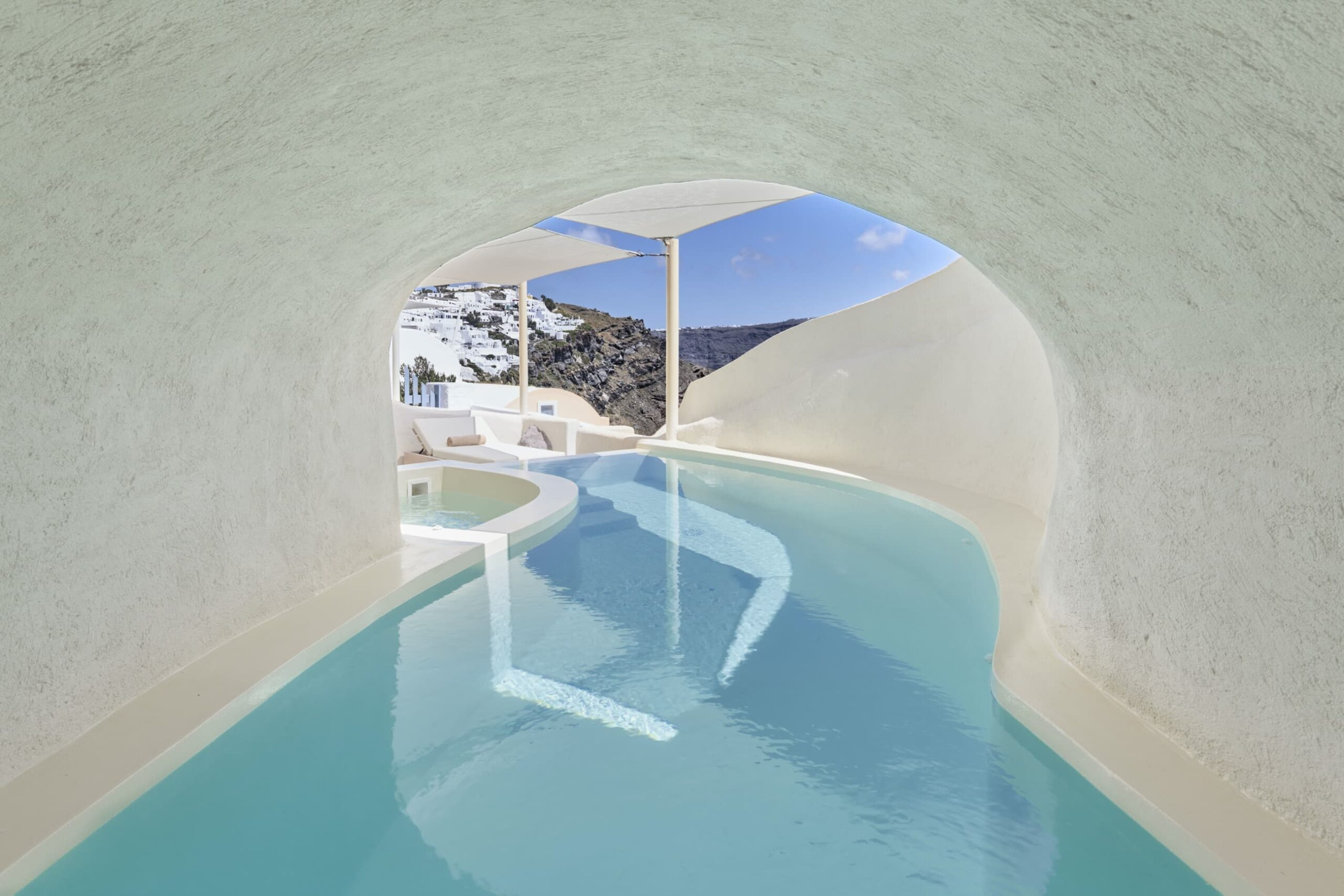 Mystery Villa private cave pool with sea view