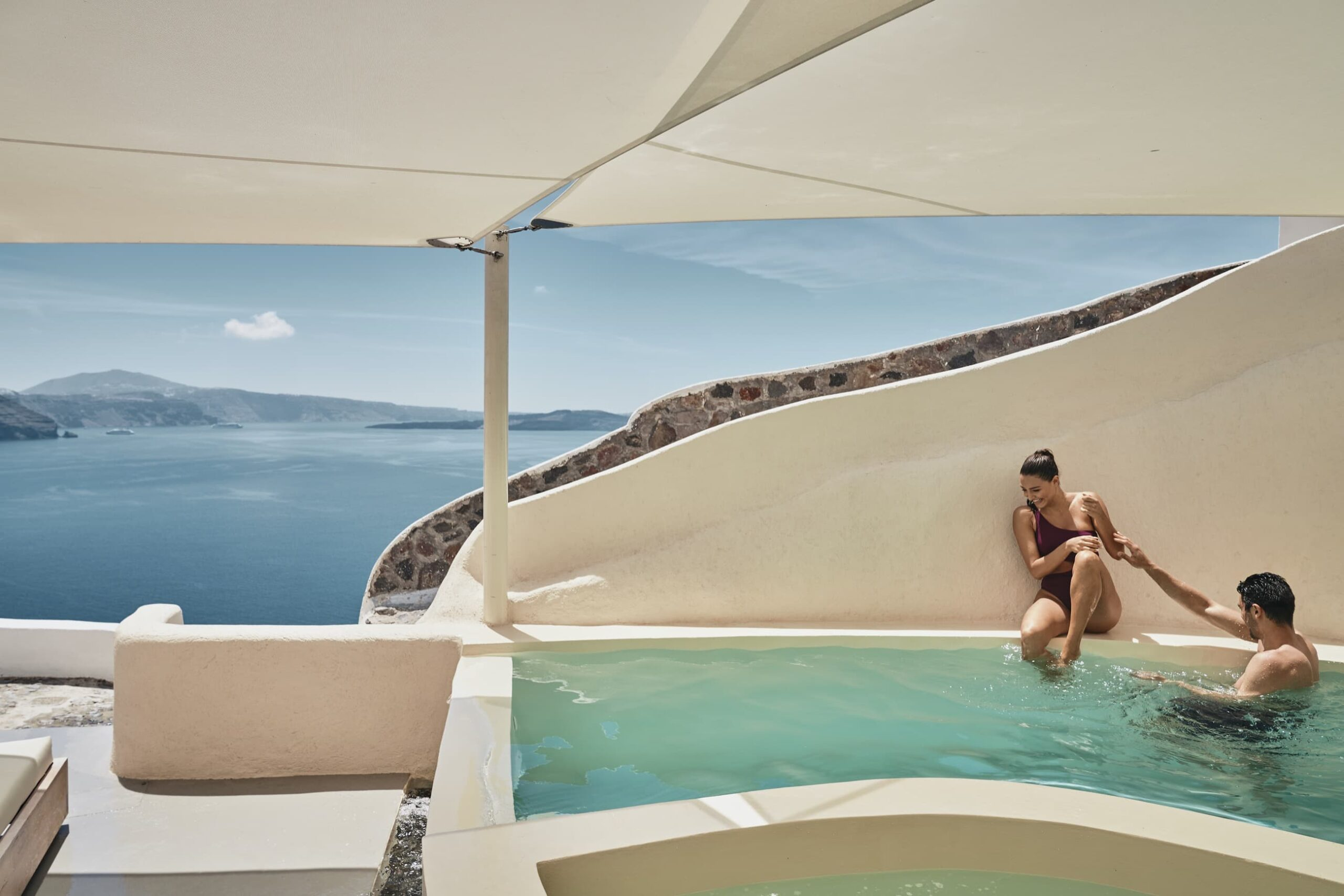 Private pool at your villa with stunning sea view