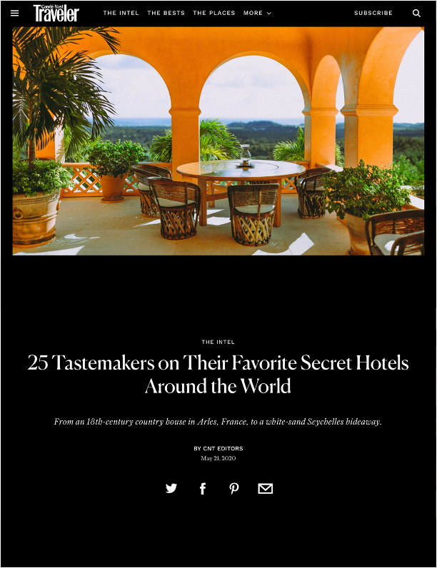 Condé Nast Traveler – May 2020